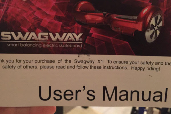Swagway X1 Hands Free Smart Board User Manual