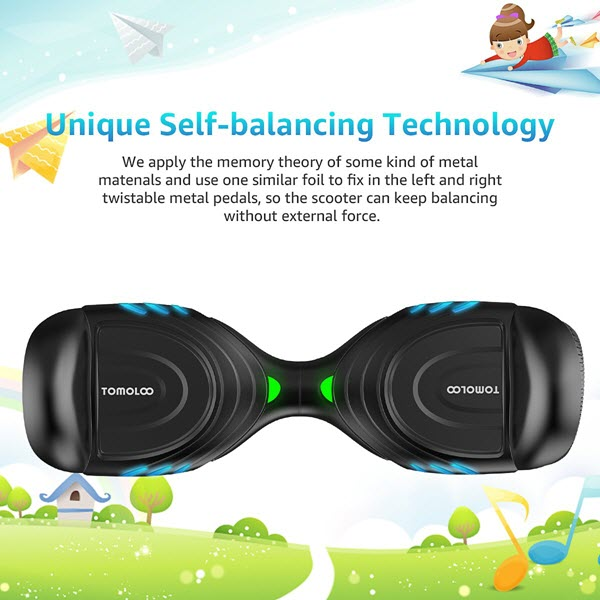TOMOLOO Music-Rhythmed Hover Board review