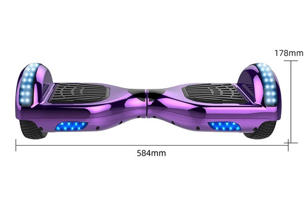 Side view of markboard hoverboard