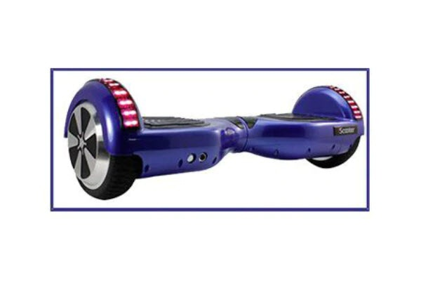 side view of iscooter hoverboard