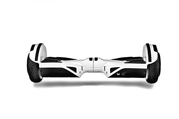 side view of robot turbo hoverboard